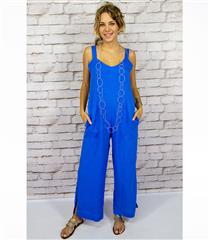 CALYPSO ELECTRIC RELAXED LINEN JUMPSUIT