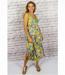 CALYPSO BLOOM KNIT MAXI BABYDOLL DRESS