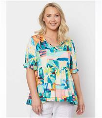 HAMMOCK AND VINE ABSTRACT TOP - MULTI