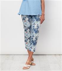GORDON SMITH BLUE FLORAL PRINT PANTS