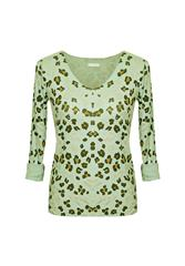 MADE IN ITALY L/S LEOPARD TOP - LIME