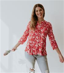 WILLOW RED EVERYDAY BLOUSE