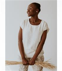 WILLOW IVORY BOXY TOP