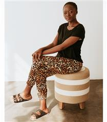 WILLOW LEOPARD SLOUCHY PANTS