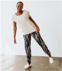WILLOW NAVY GRAPHIC PRINT SLOUCHY PANTS