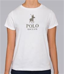 POLO CLASSIC WHITE LOGO COTTON T-SHIRT