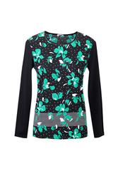 GERRY WEBER TOP - BLACK MULTI