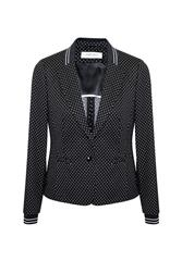 GERRY WEBER JACKET - BLACK WHITE