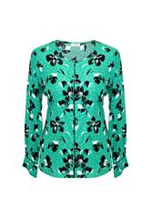 GERRY WEBER BLOUSE - GREEN BLACK