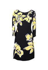 GERRY WEBER DRESS - YELLOW BLACK