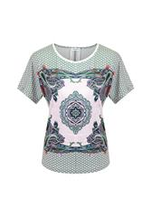 GERRY WEBER TOP - WHITE MULTI