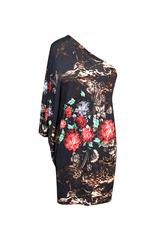 JOLIE BAM BAM BLACK RED PRINT SHORT DRESS