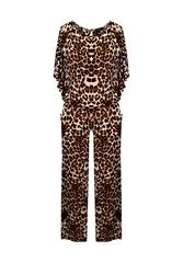 JOLIE BROWN LEOPARD PRINT JUMPSUIT
