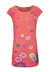 MADE IN ITALY CHERRY FLORAL DRESS