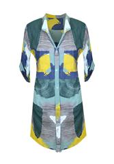 MADE IN ITALY MULTI COLOUR SHIRT DRESS