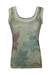 MADE IN ITALY KHAKI MULTI TOP