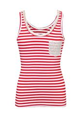 MADE IN ITALY RED WHITE TOP