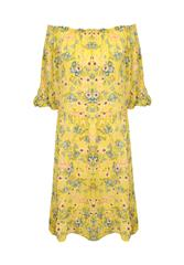 MADE IN ITALY YELLOW FLORAL DRESS