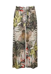 MADE IN ITALY BROWN MULTI TROPICAL PANTS