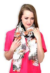 GERRY WEBER ECRU PAPAYA SCARF