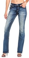 MISS ME BLUE SEASHORE SLIM BOOT JEAN