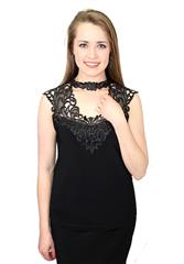 JOSEPH RIBKOFF BLACK TOP - BLACK