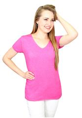 MADE IN ITALY PINK SHORT SLEEVE TEE