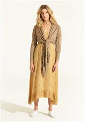 ONESEASON GOLD DAISY WRAP CARDIGAN