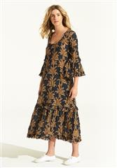 ONESEASON NAVY PALMA INDI DRESS
