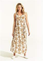 ONESEASON WHITE PALMA SUNSHINE DRESS