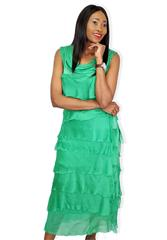 MADE IN ITALY GREEN LAYERED DRESS