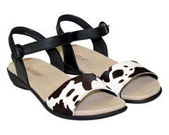 HOTTER BLACK COW SANDAL - TROPIC