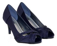 STACCATO NAVY EVENING SANDAL