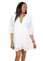 MADE IN ITALY WHITE LACE TUNIC