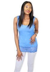 MADE IN ITALY BLUE BASIC CAMI