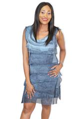 MADE IN ITALY DRESS - BLUE