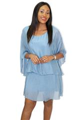 MADE IN ITALY BLUE SHORT DRESS