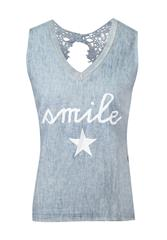 MADE IN ITALY BLUE SLEEVELESS TOP