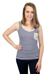 MADE IN ITALY NAVY WHITE TOP