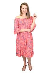 MADE IN ITALY PINK FLORAL DRESS