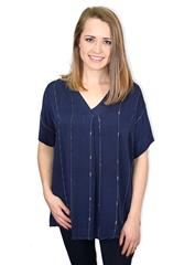 MADE IN ITALY BLUE BLOUSE