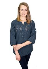 MADE IN ITALY BLOUSE - NAVY
