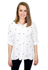 MADE IN ITALY STAR SHIRT - WHITE