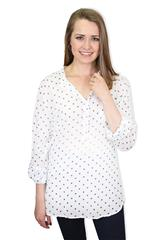 MADE IN ITALY WHITE STAR BLOUSE