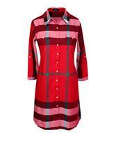 JOLIE RED CHECK SHIRT DRESS