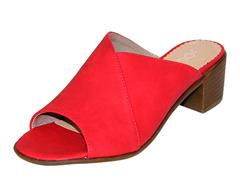 JOLIE RED HIGH HEEL MULE