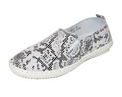 JOLIE BLACK WHITE SNAKE PRINT LEATHER SNEAKER