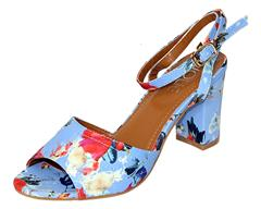 JOLIE BLUE MULTI HIGH HEEL SANDAL