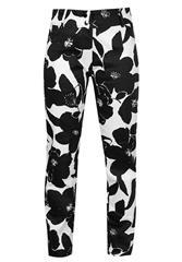 JOLIE BLACK WHITE PRINTED PANTS