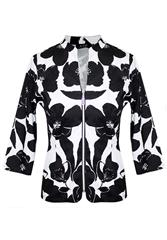 JOLIE BLACK WHITE PRINTED JACKET